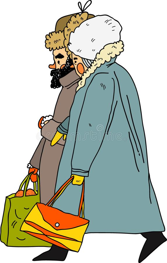 Pessoas adultas dos pares ilustração royalty free