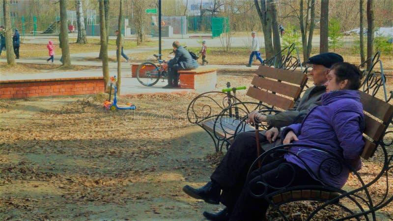Pessoas adultas em férias no parque imagem de stock royalty free