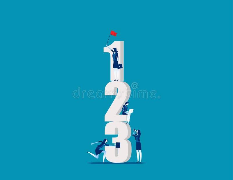 Pessoas de negócios com número Conceito vetor de negócios, Trabalhando, Número, Corporation ilustração stock