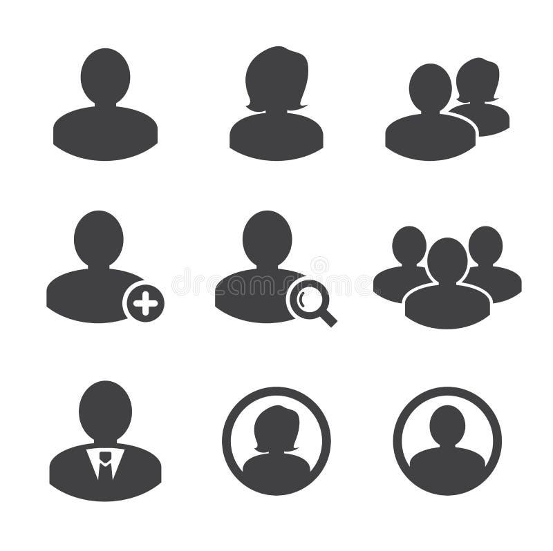 Pessoas do negócio e ícone do usuário ilustração do vetor