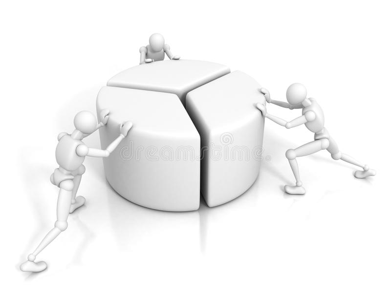 Download Pessoas Dos Homens 3d E Um Gráfico Financeiro Da Carta De Torta Ilustração Stock - Ilustração de integração, idéia: 29843621