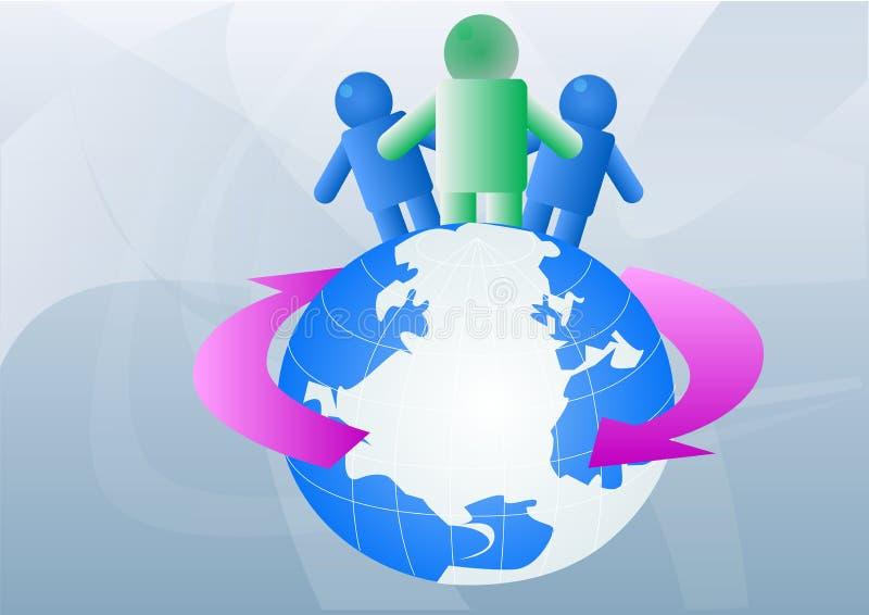 Pessoas em todo o mundo ilustração do vetor
