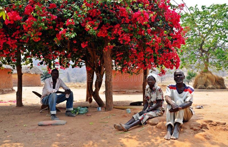 Pessoas idosas de Batonka, Gokwe norte, Zimbabwe imagem de stock