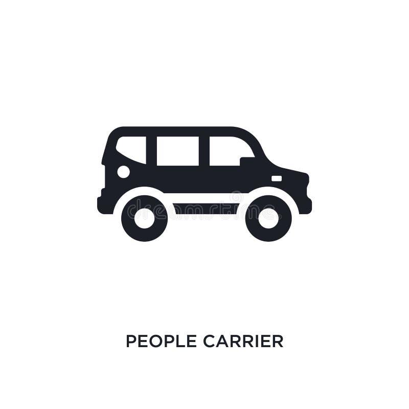 pessoas negras do ícone isolado portador do vetor ilustração simples do elemento dos ícones do vetor do conceito do transporte-ay ilustração stock