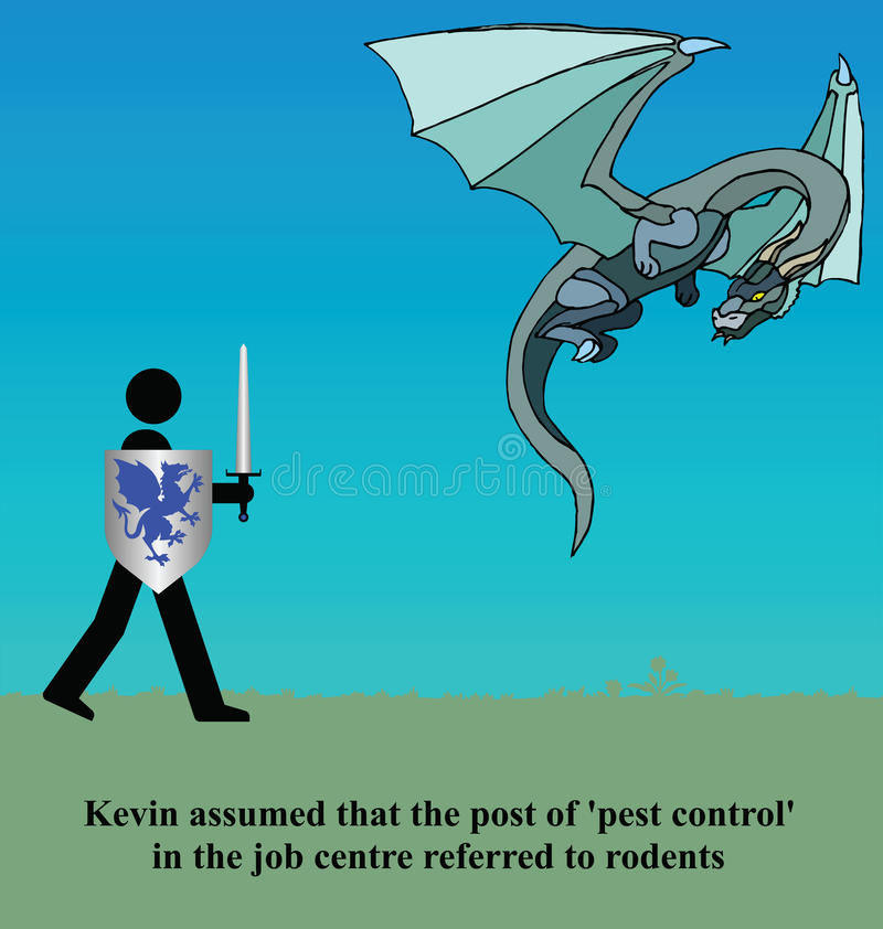Pest control royalty free illustration
