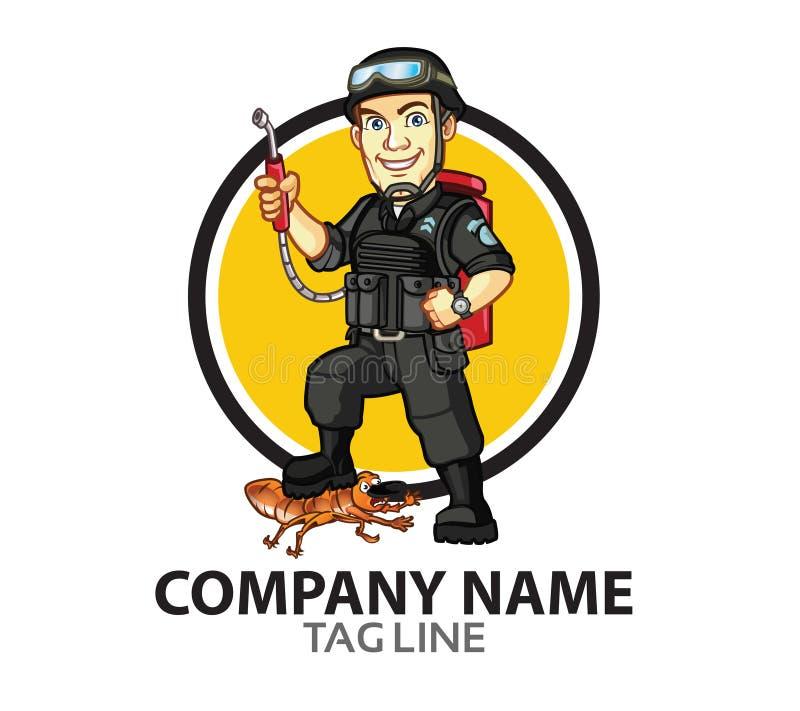 Pest Control Company Logo stock illustration