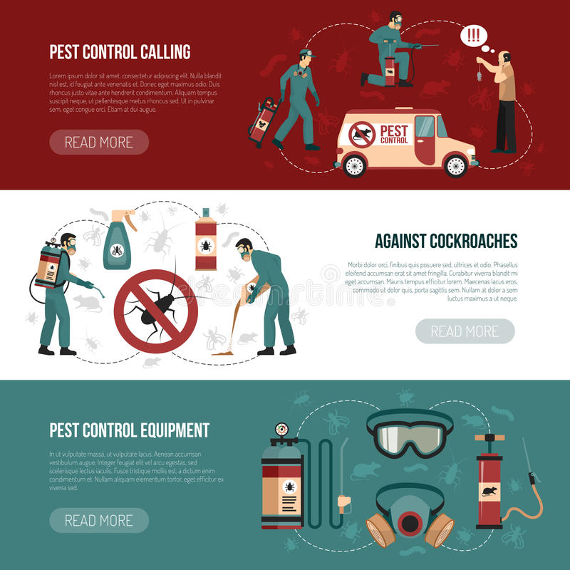 Free Pest Control Horizontal Banners Stock Images - 83425424