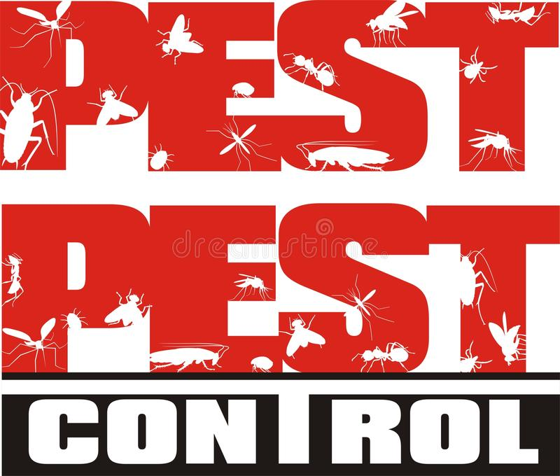 Pest control - insects royalty free illustration