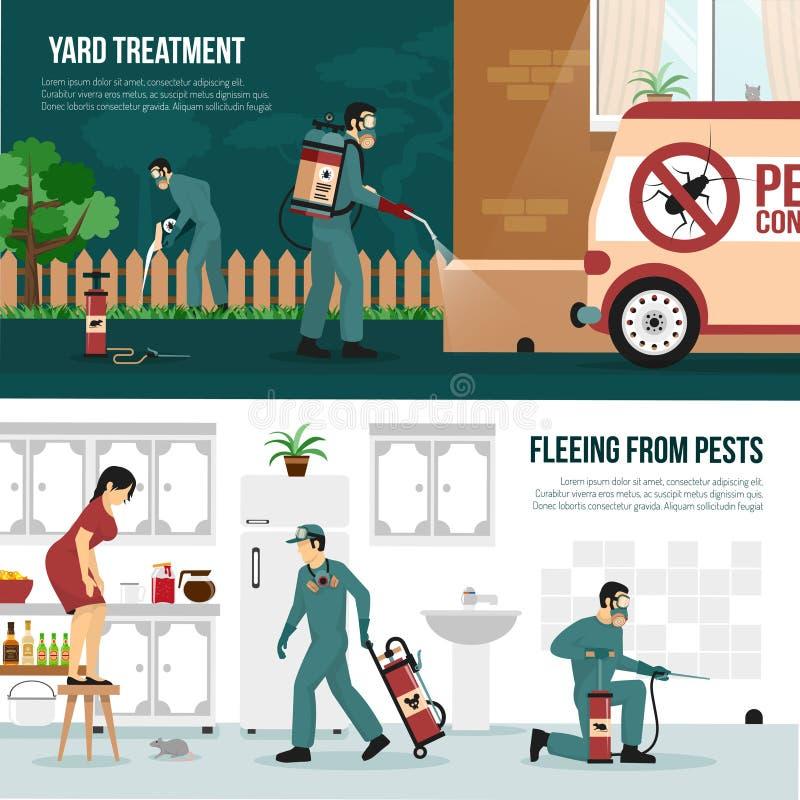 Free Pest Control Technology Flat Banners Set Stock Photos - 82645733