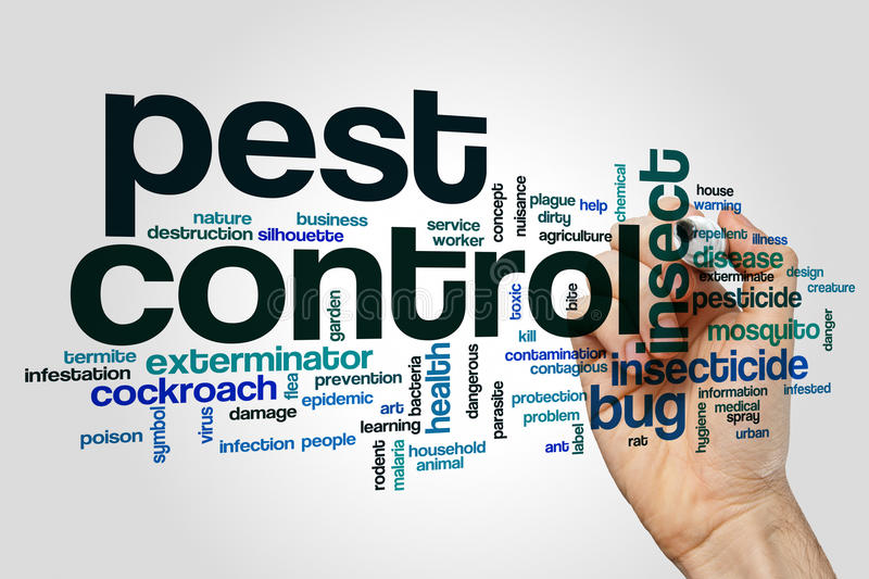 Pest control word cloud. Concept stock images