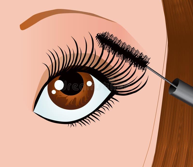 Download Pestanas ilustração do vetor. Ilustração de mascara, beleza - 10064131