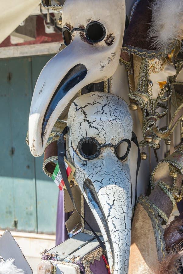 Pestilence van Venetië masker, Italië royalty-vrije stock afbeeldingen