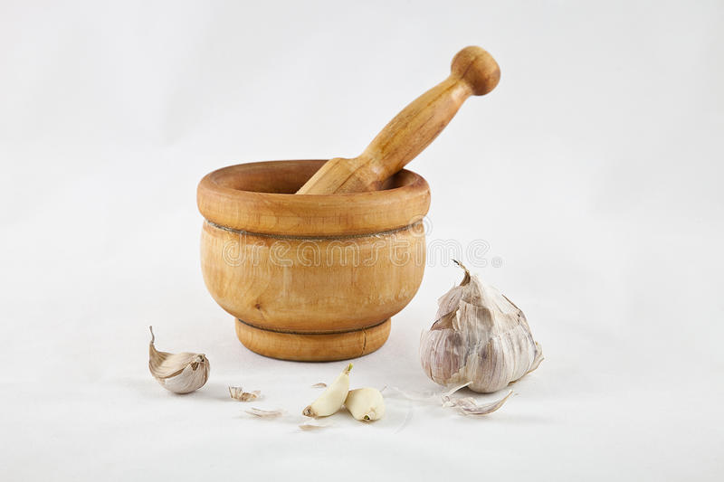 Pestle. To crush and grind spices royalty free stock image
