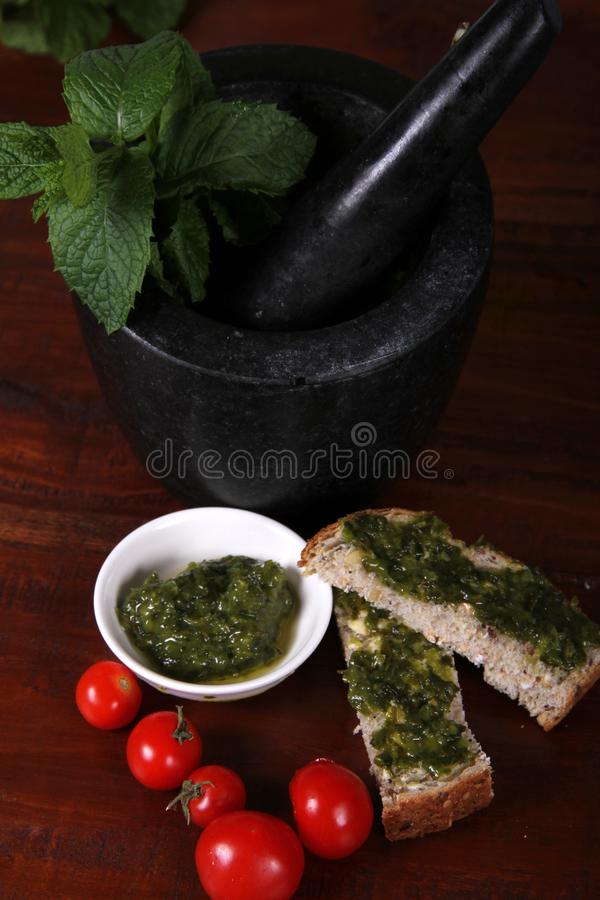 Download Pestle and Mortar stock image. Image of mortar, tomatoes - 23088093