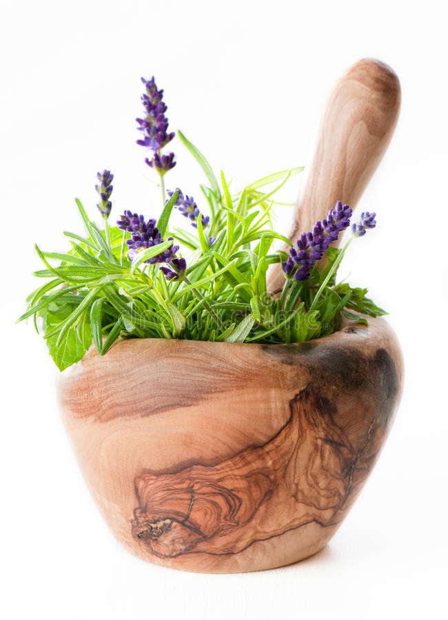 Free Pestle & Mortar Herbs Stock Photos - 9878023