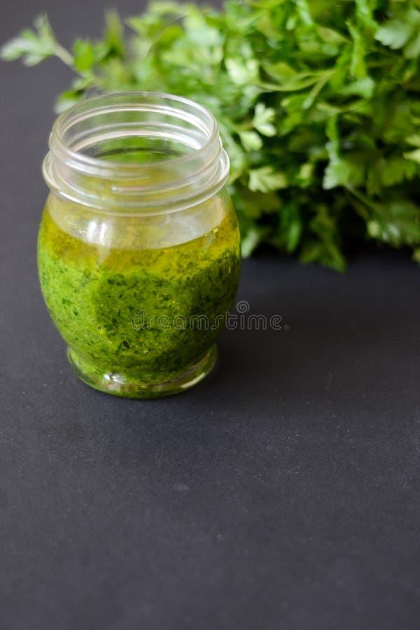 Pesto调味汁 库存照片