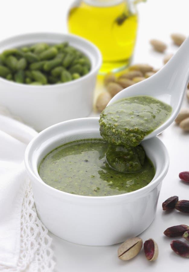Pesto φυστικιών στοκ εικόνες με δικαίωμα ελεύθερης χρήσης