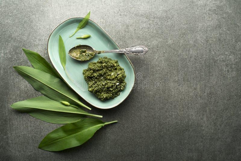 Pesto дикого чеснока стоковое изображение