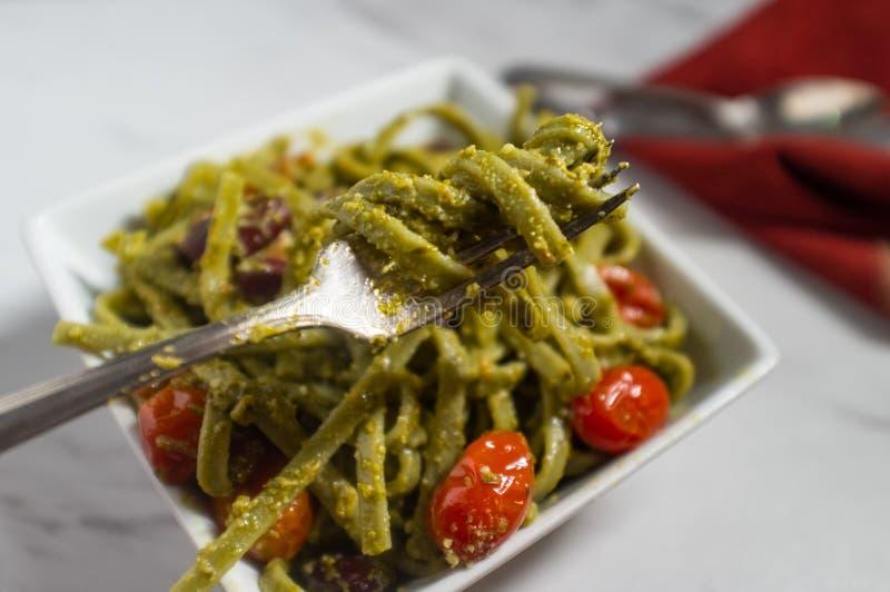 Pesto Alla Linguine стоковое изображение rf