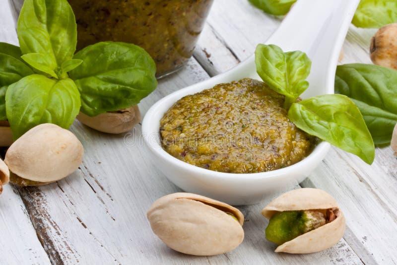 Pesto de pistache images libres de droits