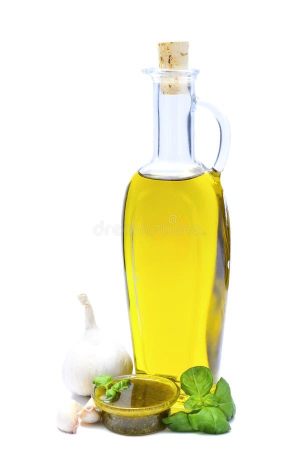 Pesto en ingrediënten royalty-vrije stock foto