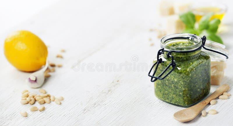 Pesto fresco fotografia de stock