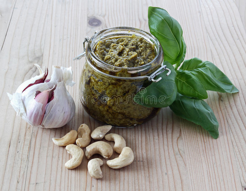 Download Pesto With Garlic, Cashews And Basil Stock Image - Image: 22203431