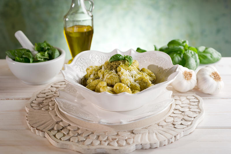 Download Pesto gnocchi stock image. Image of bowl, italy, italian - 15003899