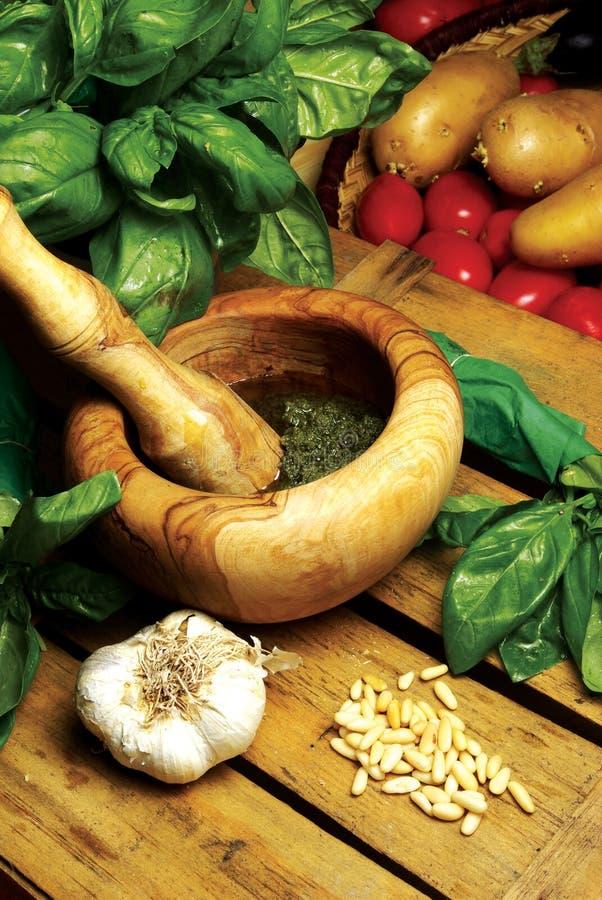Pesto ligur fotografía de archivo libre de regalías