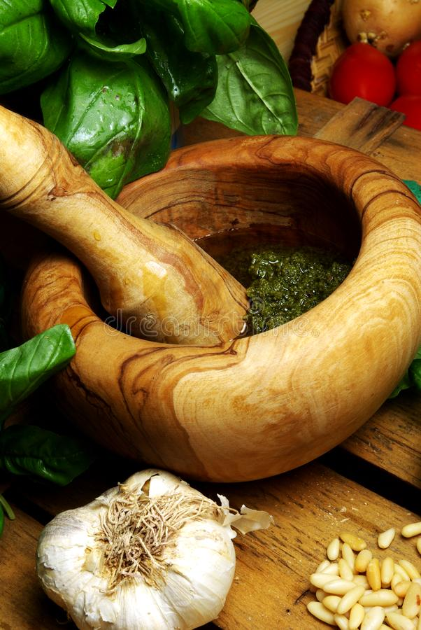 Pesto ligurien images stock