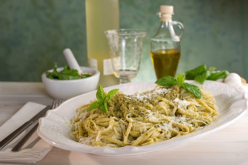 Pesto pasta royalty free stock image