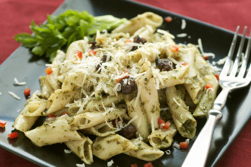 Pesto Pasta stock photos