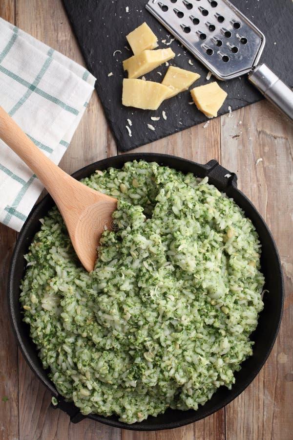 Pesto risotto obraz stock