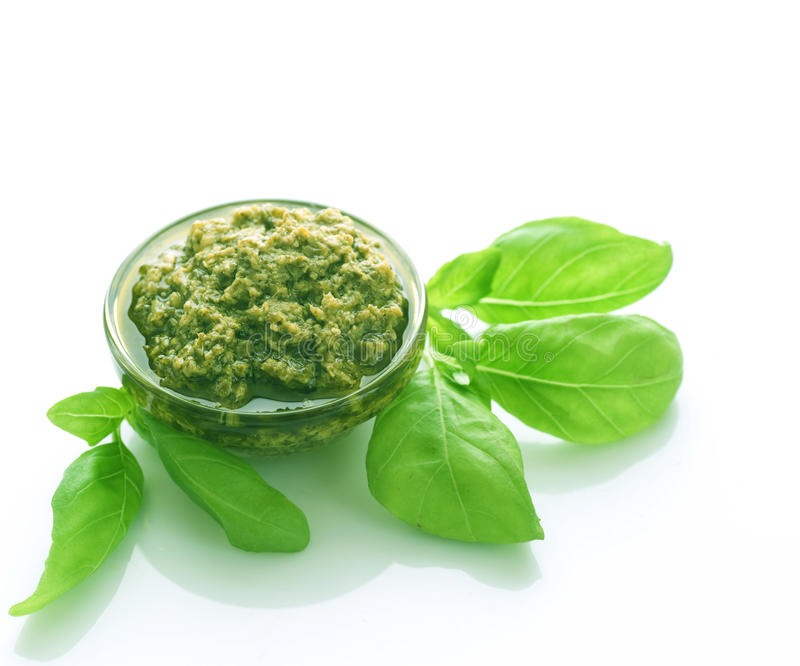 Pesto sauce stock photography