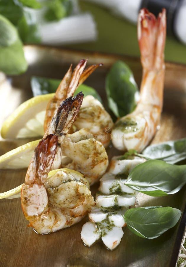 Free Pesto Shrimps Stock Photos - 17064483