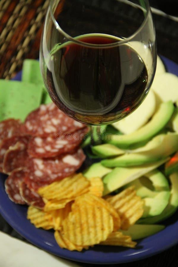 Pestosnack en wijnbar stock foto