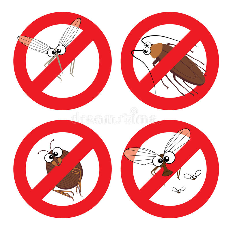 Download Pests in Stop Sign stock vector. Illustration of malaria - 37496018