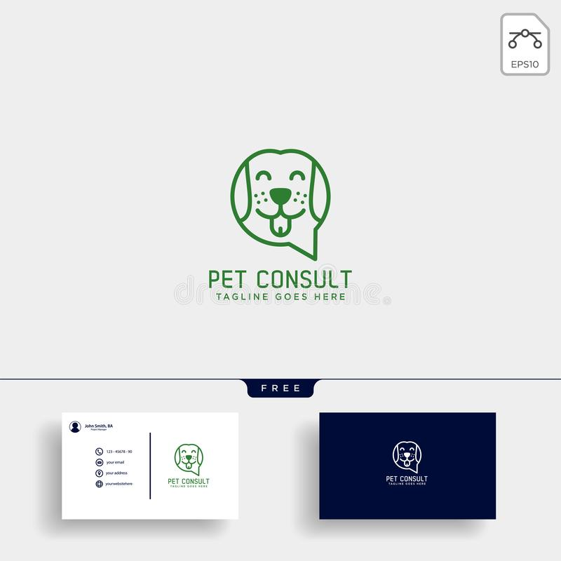 pet animals care consulting, logo template vector illustration royalty free illustration
