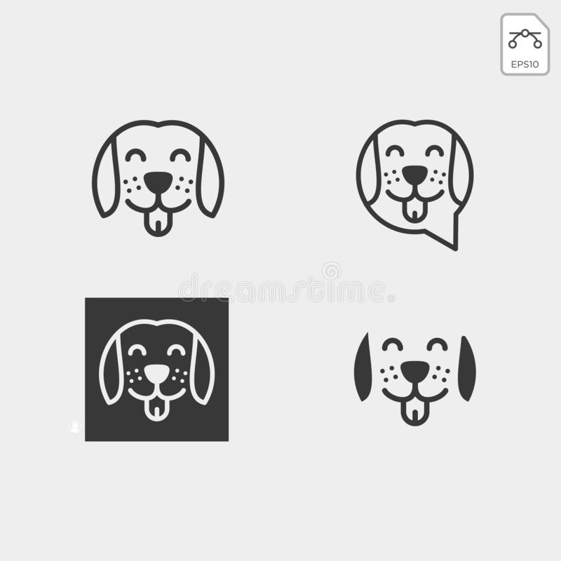 pet animals care consulting, logo template vector illustration vector illustration