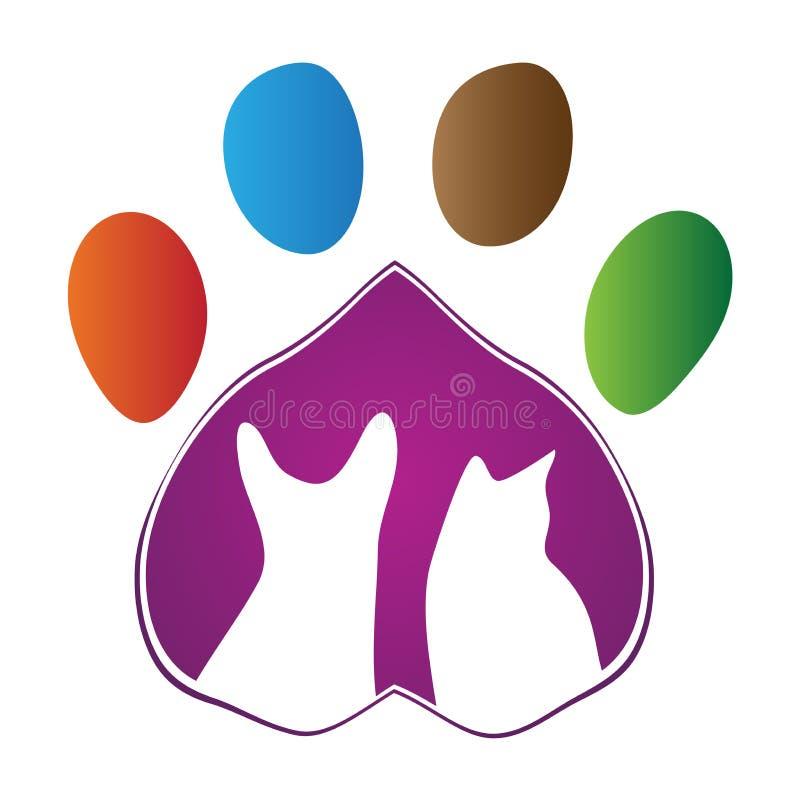 Pet care. Illustration of pet care design isolated white background royalty free illustration