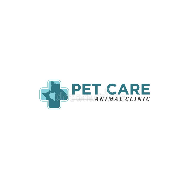 Pet care abstract vector logo royalty free illustration