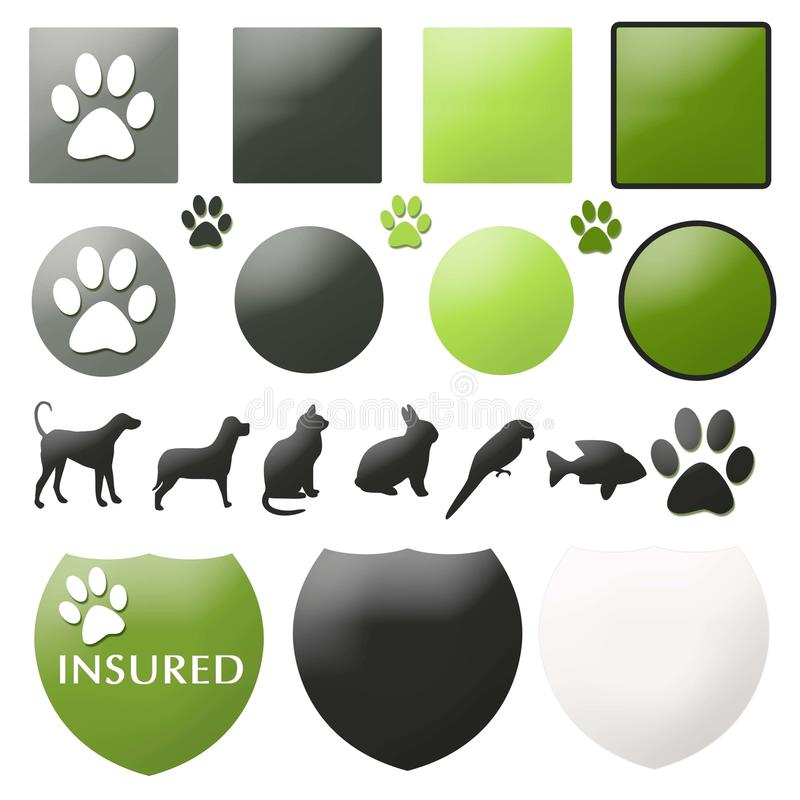 Download Pet Care Buttons stock illustration. Image of bunny, insurance - 25652241