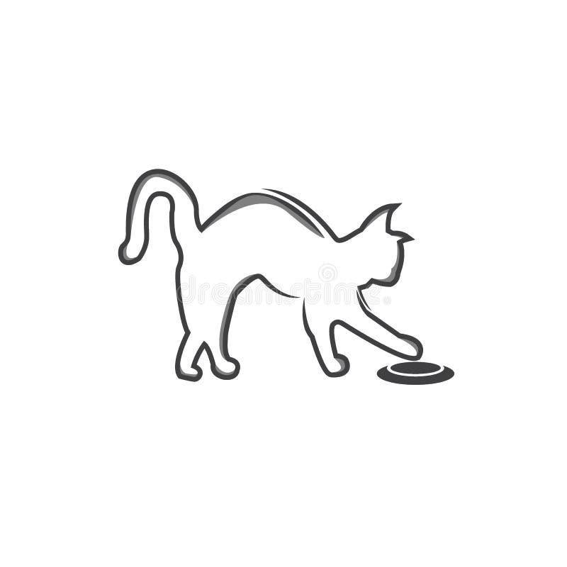 Cat logo vector illustration. modern cat logo template isolated on white background vector illustration