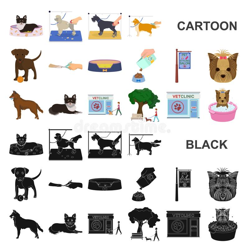 Pet cartoon icons in set collection for design. Care and education vector symbol stock web illustration. Pet cartoon icons in set collection for design. Care vector illustration