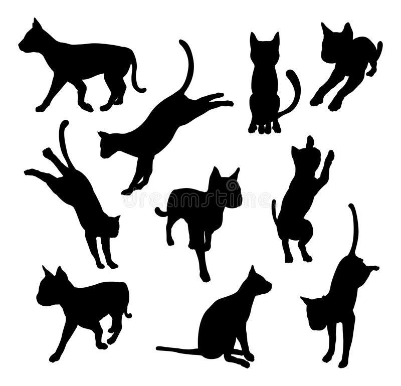 Download Pet cat silhouettes stock vector. Illustration of artwork - 32826483