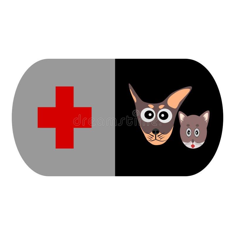 Pet clinic, Dog and Cat, Animal Hospital, Pet Hospital royalty free illustration