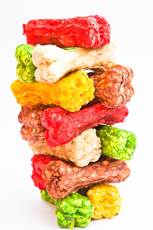 Pet food. A snack food of the dog stock images