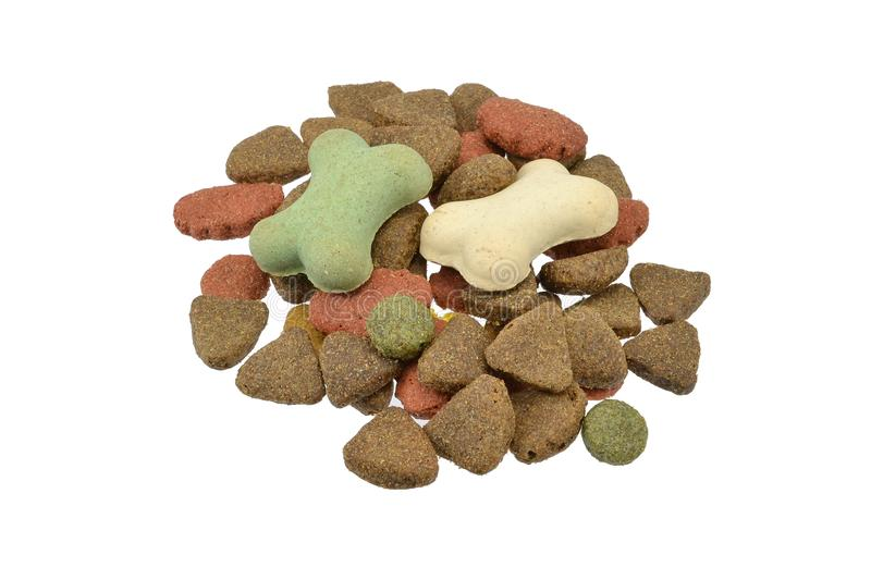 Pet food for dogs stock photos