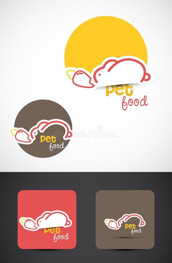 Pet food logo royalty free stock photography