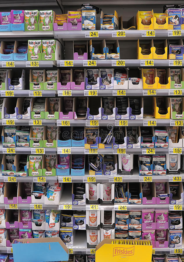 Pet Food at Store royalty free stock image